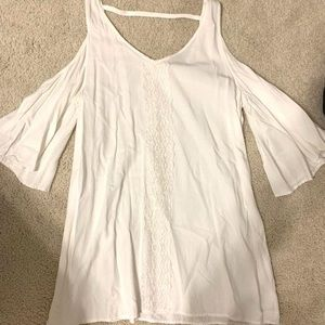 BB Dakota white cut-out shoulder dress